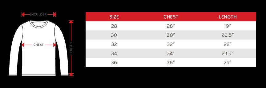 Size Chart - Enzo Round Neck - Kids