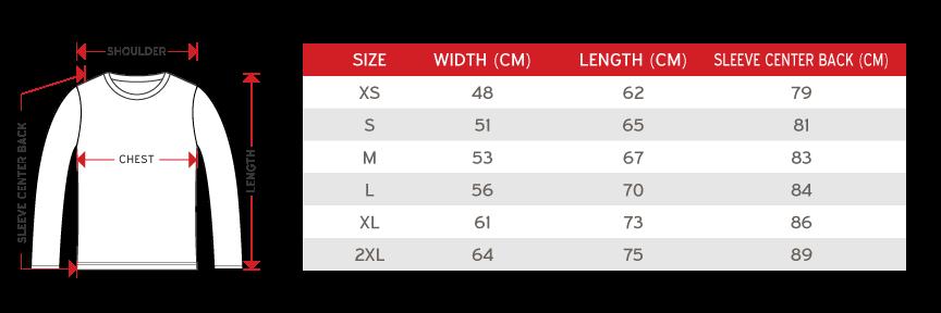 Gildan crewneck-size-chart